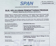 SPAN Product Certification ASTM F1282-03